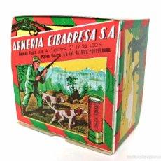 Cajas y cajitas metálicas: CAJA DE CARTUCHOS DE POLVORA. ARMERIA EIBARRESA MUNICION PARA CAZA. AÑOS 50 - 60. Lote 256016970