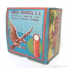 Cajas y cajitas metálicas: CAJA DE CARTUCHOS DE POLVORA. ARMERIA EIBARRESA MUNICION PARA CAZA. AÑOS 50 - 60. Lote 256016875