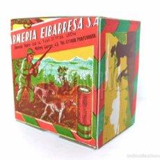 Cajas y cajitas metálicas: CAJA DE CARTUCHOS DE POLVORA. ARMERIA EIBARRESA MUNICION PARA CAZA. AÑOS 50 - 60. Lote 129535058