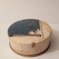 Cajas y cajitas metálicas: ANTIGUA CAJA DE POLVOS, MADERA DE ORIENTE, MYRURGIA. BARCELONA. Lote 61208979