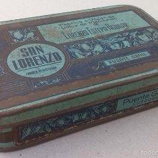 Cajas y cajitas metálicas: ANTIGUA LATA LITOGRAFIADA DE MEMBRILO DE PUENTE GENIL, CORDOBA. Lote 61330247