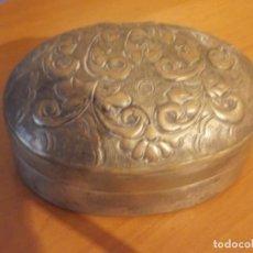 Cajas y cajitas metálicas: BONITA CAJA METAL GRABADA 13 X 7. Lote 61875208