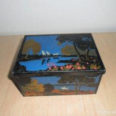 Cajas y cajitas metálicas: CAJA HILATURAS LABOR DE BARCELONA. Lote 61977636