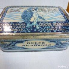 Cajas y cajitas metálicas: CAJA METALICA. DULCE DE MEMBRILLO. LA FAMA. PUENTE GENIL. Lote 62055664