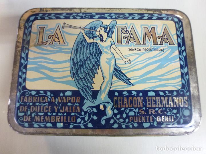 Cajas y cajitas metálicas: Caja metalica. Dulce de membrillo. La Fama. Puente Genil - Foto 2 - 62055664