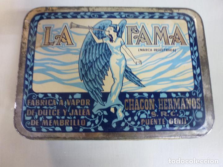 Cajas y cajitas metálicas: Caja metalica. Dulce de membrillo. La Fama. Puente Genil - Foto 5 - 62055664