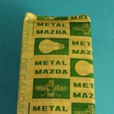 Cajas y cajitas metálicas: ENVOLTOTIO PROTECTOR BOMBILLA METAL MAZDA. Lote 62297992