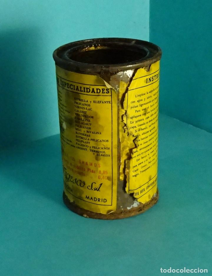 Cajas y cajitas metálicas: BOTE VACÍO DE PINTURA MARCA LACCARIN TINTE DE LUSTRE ROBLE CLARO - Foto 2 - 62298872