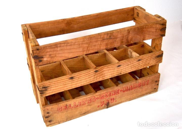 Antigua caja de madera para botellas vino o cer comprar - Cajas de madera para botellas ...