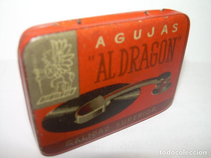 Cajas y cajitas metálicas: ANTIGUA CAJA PARA AGUJAS DE GRAMOFONO.....AL DRAGON.....PERFECTO ESTADO DE CONSERVACION. - Foto 4 - 62900048