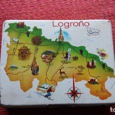 Cajas y cajitas metálicas: CAJA DE CARAMELOS EL AVION LOGROÑO. Lote 62962920