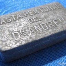 Cajas y cajitas metálicas: PASTA PECTORAL DEL DR. ANDREU. CAJA METÁLICA. Lote 63117680