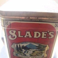 Cajas y cajitas metálicas: ANTIGUA LATA SLADES CARAMEL TOFFY. Lote 64052479