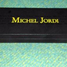 Cajas y cajitas metálicas: CAJA DE CUERO DE RELOJ MICHEL JORDI SUIZA. Lote 64419695