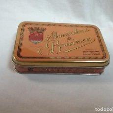 Cajas y cajitas metálicas: CAJA METÁLICA VACIA ALMENDRAS DE BRIVIESCA ( BURGOS ) - FABRICANTE DESIDERIO ALONSO . Lote 64662235