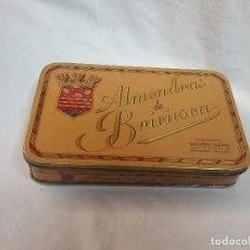 Cajas y cajitas metálicas: CAJA METÁLICA VACIA ALMENDRAS DE BRIVIESCA ( BURGOS ) - FABRICANTE DESIDERIO ALONSO . Lote 64662455