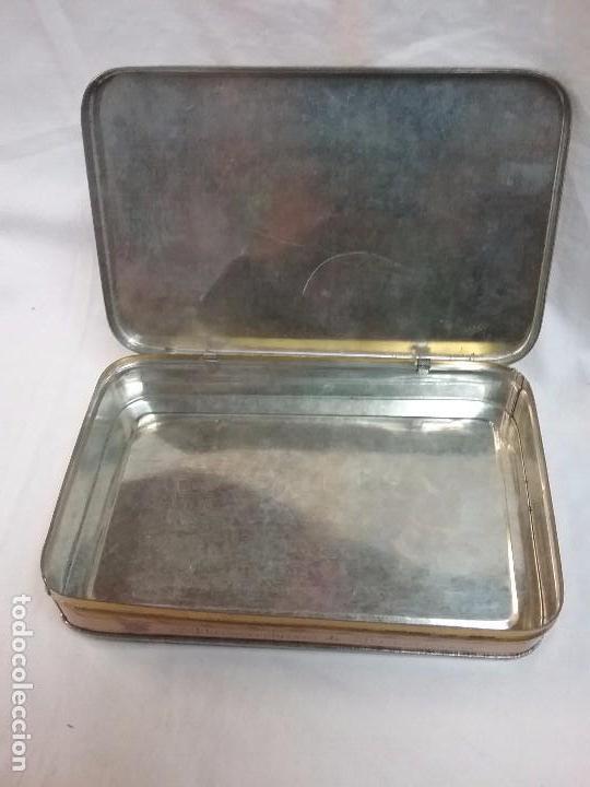 Cajas y cajitas metálicas: CAJA METÁLICA VACIA ALMENDRAS DE BRIVIESCA ( BURGOS ) - FABRICANTE DESIDERIO ALONSO - Foto 2 - 64662455