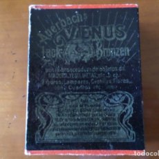 Cajas y cajitas metálicas: CAJA AUERBACHS VENUS LACK BRONZEN. Lote 64719351
