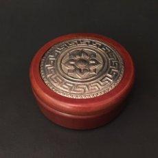 Cajas y cajitas metálicas: CAJITA DE MADERA Y PLATA 925. Lote 64783590