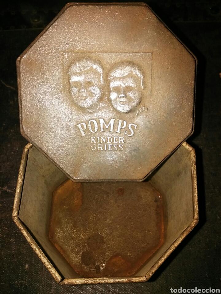 Cajas y cajitas metálicas: CAJA DE HOJALATA AÑOS 20 COMIDA PARA NIÑOS POMPS KINDER GRIESS - Foto 4 - 64797038
