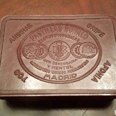Cajas y cajitas metálicas: CAJA DE BAQUELITA DE PASTILLAS BONALD. AÑOS 20. PERFECTA. Lote 64810825