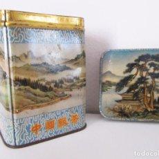 Caixas e caixinhas metálicas: ANTIGUA CAJA METÁLICA TE CHINO - CHINA GREEN TEA - LATA - CURIOSA - 9 X 6,5 CM.. Lote 64884415