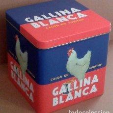 Cajas y cajitas metálicas: CAJA METÁLICA GALLINA BLANCA (REPRODUCCIÓN). Lote 64910655