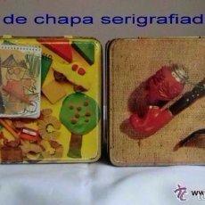 Cajas y cajitas metálicas: LOTE DE DOS CAJAS ANTIGUAS DE COLA -CAO SERIGRAFIADAS .IDEAL DECORACIÓN O COLECCIONISTAS. Lote 65949038