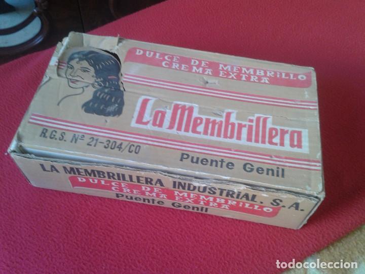MUY RARA ANTIGUA Y ESCASA CAJA EN CARTÓN DE DULCE DE MEMBRILLO LA MEMBRILLERA PUENTE GENIL CORDOBA (Coleccionismo - Cajas y Cajitas Metálicas)