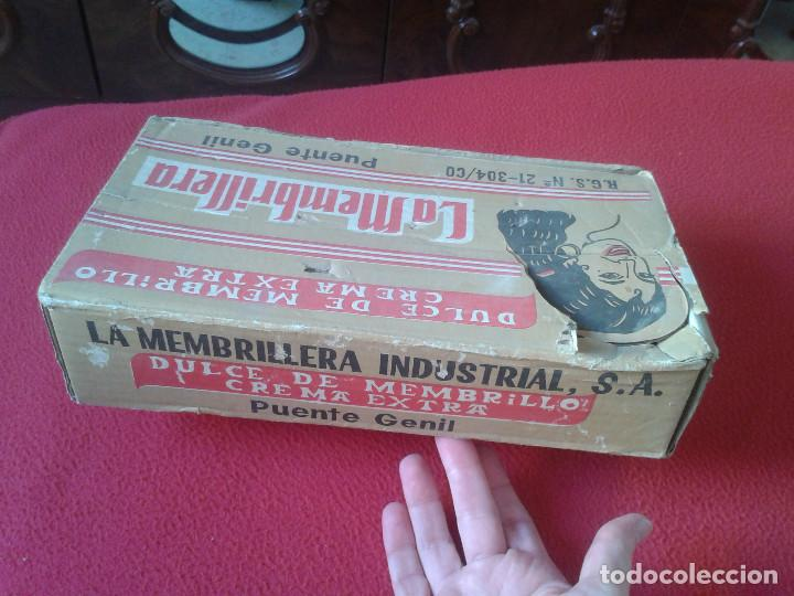 Cajas y cajitas metálicas: MUY RARA ANTIGUA Y ESCASA CAJA EN CARTÓN DE DULCE DE MEMBRILLO LA MEMBRILLERA PUENTE GENIL CORDOBA - Foto 5 - 65949114