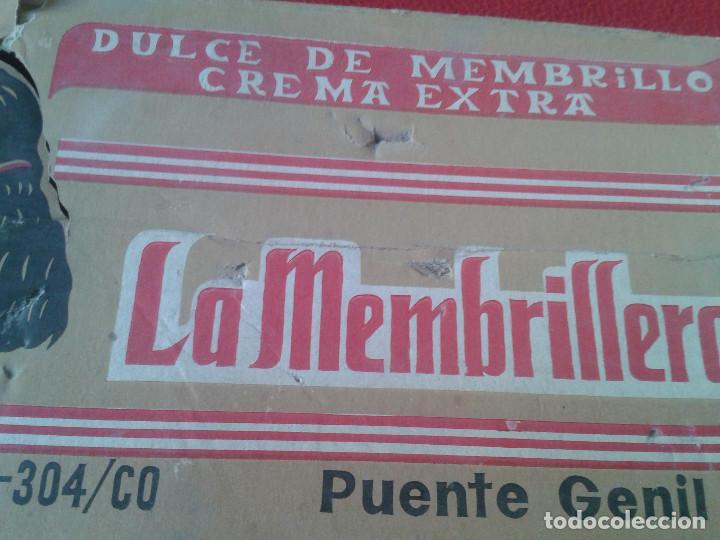 Cajas y cajitas metálicas: MUY RARA ANTIGUA Y ESCASA CAJA EN CARTÓN DE DULCE DE MEMBRILLO LA MEMBRILLERA PUENTE GENIL CORDOBA - Foto 8 - 65949114