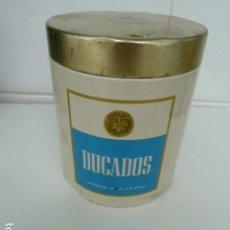 Cajas y cajitas metálicas: DUCADOS CIGARRILLOS BOTE LATA METALICA AÑOS 80 . Lote 66028946