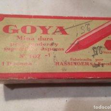 Cajas y cajitas metálicas: ANTIGUA CAJA DE MINA / MINAS MARCA GOYA CON CONTENIDO FABRICADO POR HASSINGER S.A. BARCELONA . Lote 66932942