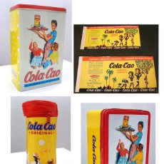 Cajas y cajitas metálicas: COLA CAO LOTE. LATA ETIQUETAS ESTUCHE CAJA. COLACAO. VER FOTOS. Lote 67180761