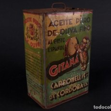 Cajas y cajitas metálicas: LATA DE ACEITE GITANA, CÓRDOBA. Lote 67649481