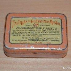 Cajas y cajitas metálicas: MUY RARA - ANTIGUA CAJA DE HOJALATA / LATA - PRECIOSA - VINTAGE - MUY CURIOSA Y COLECCIONABLE. Lote 68906021