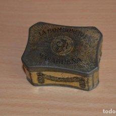Cajas y cajitas metálicas: MUY RARA - LA BOMBONERÍA MALAGUEÑA - ANTIGUA CAJA DE HOJALATA / LATA - PRECIOSA - VINTAGE. Lote 68906169