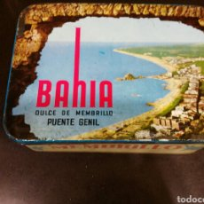 Cajas y cajitas metálicas: LATA VINTAGE DE MEMBRILLO BAHIA. Lote 68926194