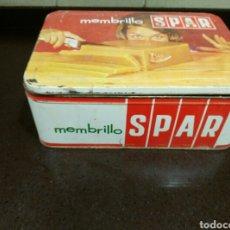 Cajas y cajitas metálicas: LATA DE MEMBRILLO SPAR. Lote 68926605