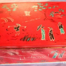 Cajas y cajitas metálicas: MUY ANTIGUA CAJA ESTUCHE DE COLACAO. DECORADA TEMAS JAPON. MUY BUEN ESTADO. Lote 68970093