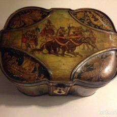 Cajas y cajitas metálicas: CAJA LITOGRAFIADA HUNTLEY & PALMERS DE 1892. Lote 69424071