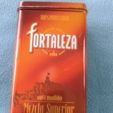 Cajas y cajitas metálicas: LATA-CAJA DE CAFE FORTALEZA AÑOS 80-90. Lote 69656417