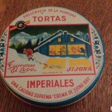 Cajas y cajitas metálicas: CAJA HOJALATA. TORTAS IMPERIAL. 10 CM Ø. Lote 70499618
