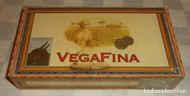 Cajas y cajitas metálicas: caja tabaco vegafina de madera - Foto 2 - 71020325