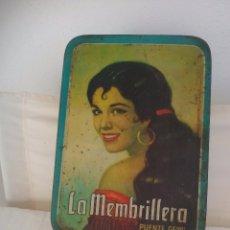 Cajas y cajitas metálicas: ANTIGUA CAJA METÁLICA LA MEMBRILLERA. PUENTE GENIL. DULCE DE MEMBRILLO. . Lote 71163609