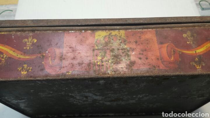 Cajas y cajitas metálicas: Caja lata Antigua con foto Reyes Alfonso XIII y Victoria Eugenia - Foto 2 - 71410250
