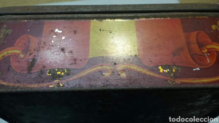 Cajas y cajitas metálicas: Caja lata Antigua con foto Reyes Alfonso XIII y Victoria Eugenia - Foto 3 - 71410250