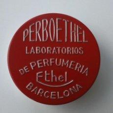 Cajas y cajitas metálicas: PRECIOSA CAJITA DE METAL. PERBOETHEL. LABORATORIOS DE PERFUMERÍA ETHEL, BARCELONA.. Lote 71428075