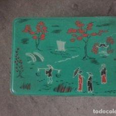 Cajas y cajitas metálicas: CAJA DE LATA DE COLACAO MOTIVOS CHINOS. Lote 71926347