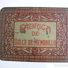 Cajas y cajitas metálicas: CAJA METÁLICA. FÁBRICA DE DULCE DE MEMBRILLO. Lote 72147055